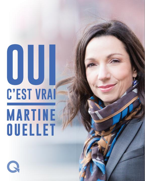 Dépliant Martine Ouellet - Couverture